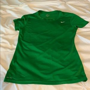 Like new Nike green dry fit shirt